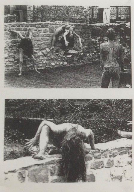 Pompeji, c'est moi, Archäologischer Garten vor der Schirn Frankfurt mit dem Tanztheater Fe' Reichelt, 1987